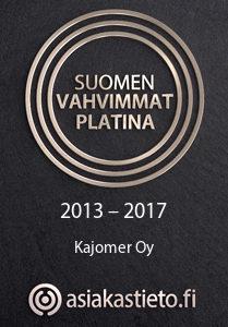Kajomer Suomen Vahvimmat logo