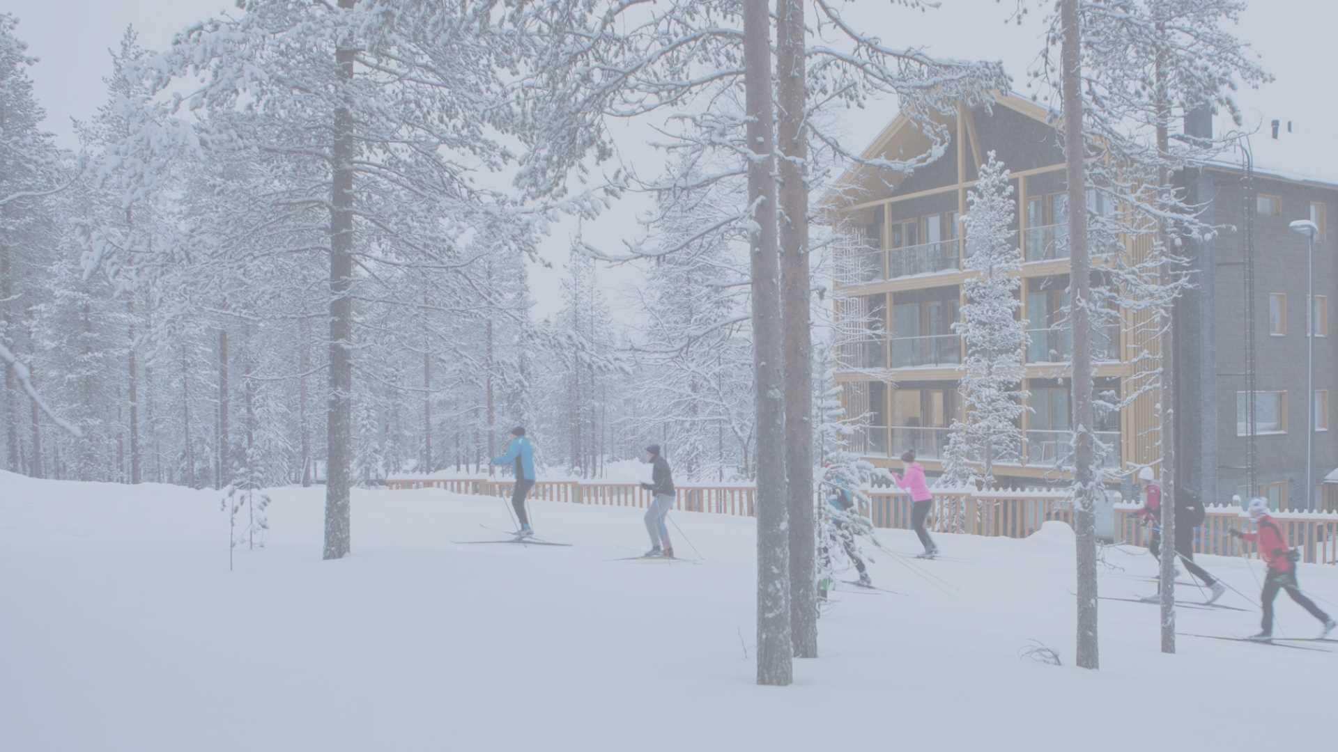 Kajomer Tunturinlaita 4A kohde, alppihuoneistomainen loma-asuntojen vuokraus Levillä.