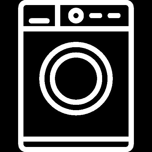 Kajomerin mökkivarustelun pyykinpesukone kuvake.