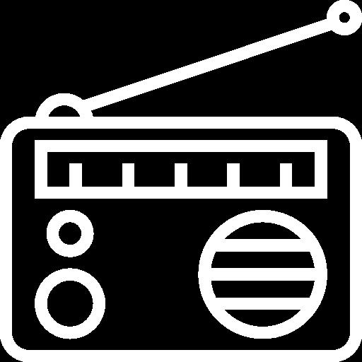 Kajomerin mökkivarustelun radio kuvake